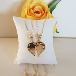 Jewelry - Matching Heart Couple Necklaces